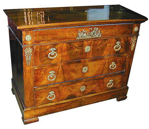 A Fine 19th Century French Charles X Four Drawer Commode No. 394