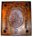 A Fine 19th Century Italian Framed  Terra-cotta Oval Plaque of Playing Putti