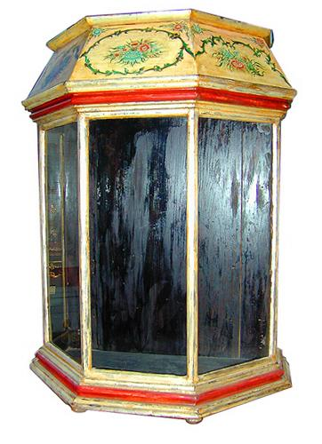 A 19th Century Italian Polychrome and Silver-Gilt Reliquare No. 489
