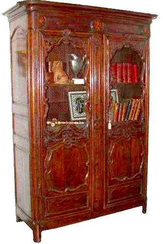 An 18th Century Louis XIV Walnut Bibliothèque No. 1855