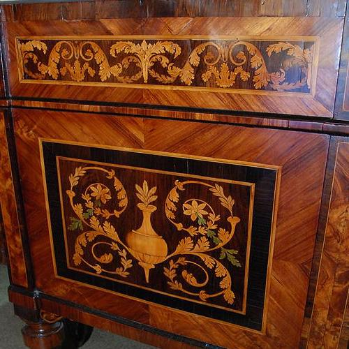 A Magnificent Pair of 18th Century Italian Maggiolini Commodes