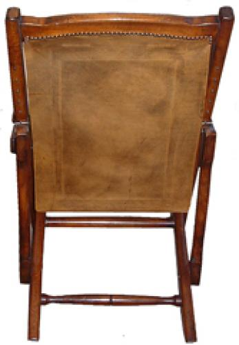 A Late 19th Century Anglo Indian Colonial Mahogany Folding Veranda Chair