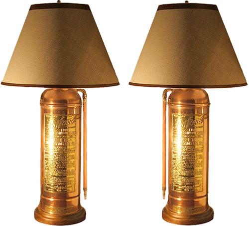 A Harlequin Pair Of Early 20th Century American Brass And