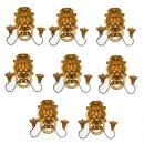 A Set of Eight 19th Century Italian Giltwood Lion Head Sconces