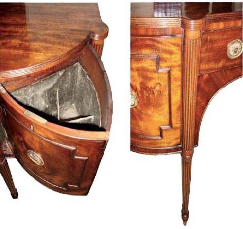 An Unusually Compact 1820 English Regency Mahogany Sideboard No. 2866