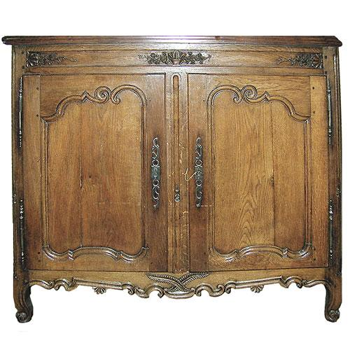A French Louis XV Carved Provincial Ashwood Buffet No. 660