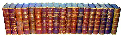 The American Encyclopedia in 19 Leather Bound Volumes