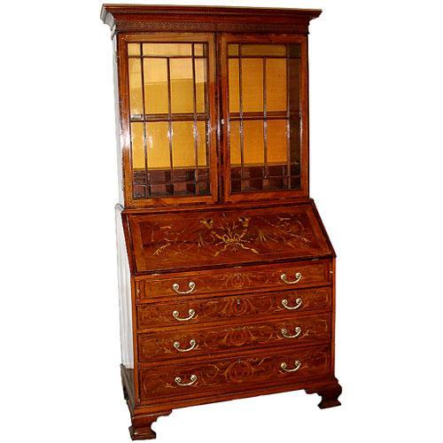 An 18th Century English Mahogany Bureau Bookcase No. 2548