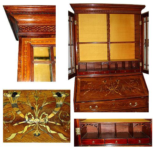 An 18th Century English Mahogany Bureau Bookcase No. 2548