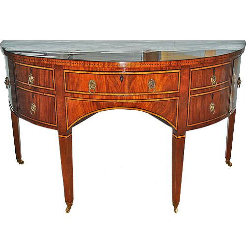 A 19th Century Demi-lune English Regency Mahogany Sideboard No. 248