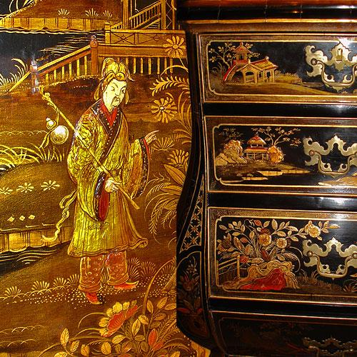 An Impressive 18th Century Dutch Black Chinoiserie Cabinet No. 2992
