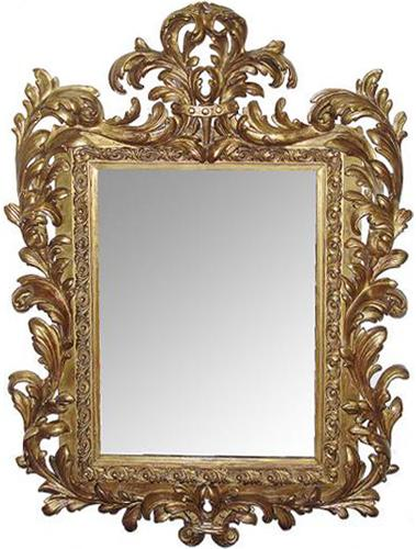 A 19th Century Italian Louis XIV transitional to Regence Carved Giltwood Mirror