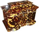 A 19th Century English Tortoiseshell Tea Caddy