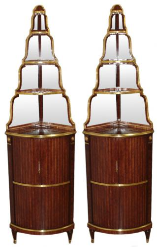 A Pair of 18th Century Rosewood Encoignures 3240
