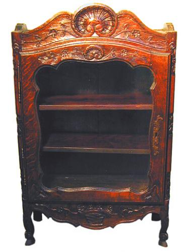 A 19th Century Louis XV French Provincial Vitrine No. 1552