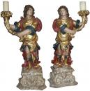 A Triumphant Pair of 18th Century Archangel Torchères