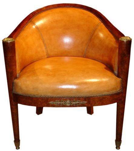 A 19th Century French Charles X Barrel Chair