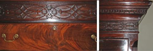 An 18th Century English Georgian Flame Mahogany Chest on Chest No. 3534