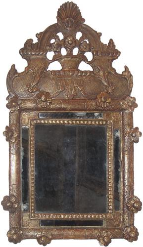 An 18th Century French Rococo Giltwood Mirror