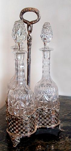 A Set of Three 19th Century French Crystal Decanters