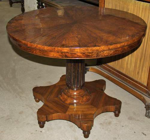 An 18th Century Italian Ancona Walnut Center Table