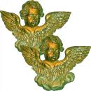 A Splendid Pair of 19th Century Italian Carved Winged Silver Gilt Putti Architectural Appliques