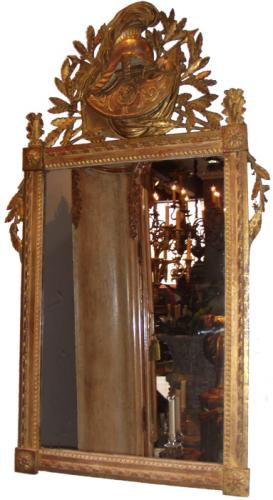 An 18th Century French Louis XVI Giltwood Neoclassical Mirror