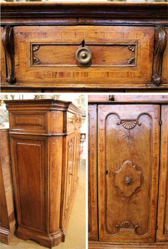 An 18th Century Baroque Tuscan Walnut Credenza No. 4020