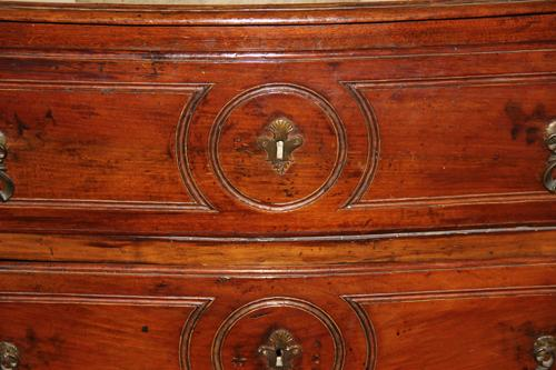A Fine 18th Century Italian Louis XV Walnut Three Drawer Commode No. 4363