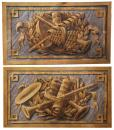 A Pair of 19th Century Italian Oil on Canvas Wall Hangings
