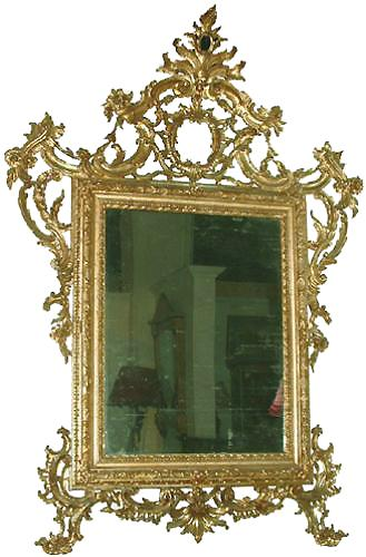 A Regal 18th Century Venetian Rococo Carved Gilt Mirror