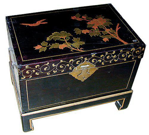 A 19th Century Chinese Pigskin-wrapped Chinoiserie Coffer