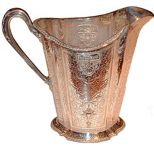 A 19th Century English Silver Plated Water Pitcher