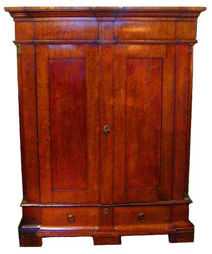 A 19th Century French Empire Plum Mahogany Armoire No. 938