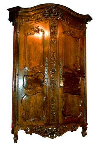 A very fine 18th century french walnut louis xv armoire de - Armoire mariage chinoise ...