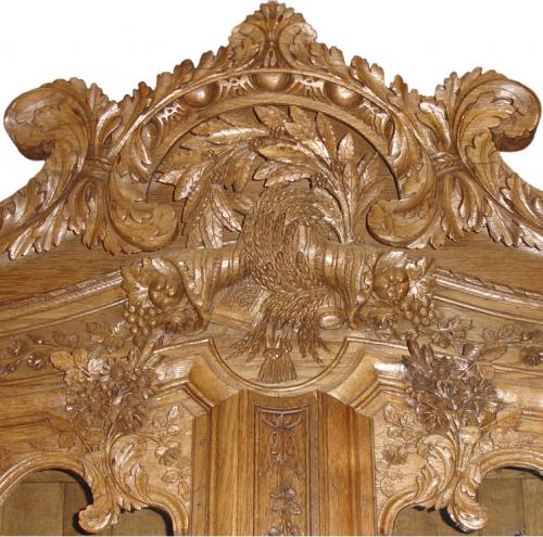 A Fine 18th Century French Louis XV Carved Oak Buffet a' deux Corps