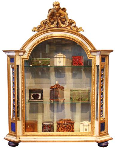 An 18th Century Italian Polychrome and Parcel Gilt Vitrine 1946