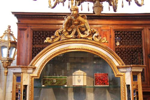 An 18th Century Italian Polychrome and Parcel-Gilt Vitrine No. 1946