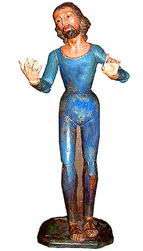 An 18th Century Spanish Articulated Polychrome Devotional Figure of Jesus