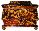 A 19th Century English Regency Blonde Tortoiseshell Tea Caddy