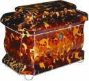 An 1840 English Tortoise Shell Tea Caddy