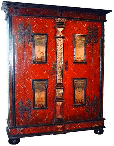 A Handsome 18th Century Hand Painted Armoire No. 2116