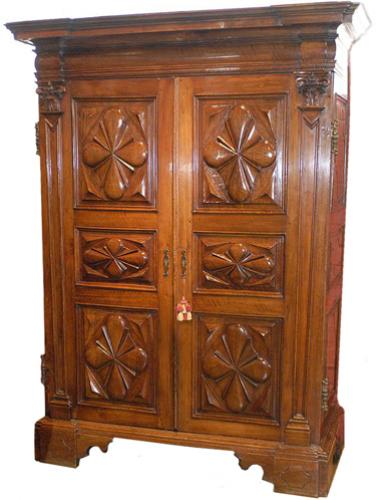 A Rare 17th Century Italian Walnut Armoire
