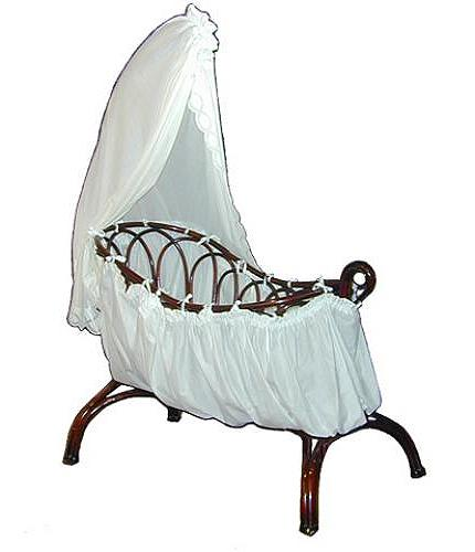 An Adorable 19th Century Beechwood Rocking Cradle