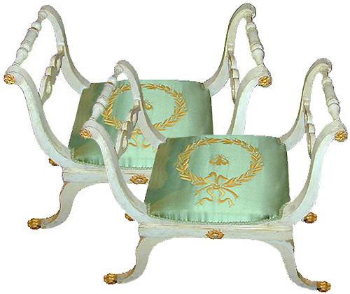 A Pair of 19th Century Italian Empire Benches