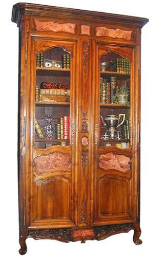 A Rare Régence Provençal Walnut Bibliothèque No. 2333