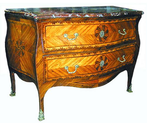 An Extremely Rare 18th Century Two-Drawer Bombé Serpentine Commode No. 133