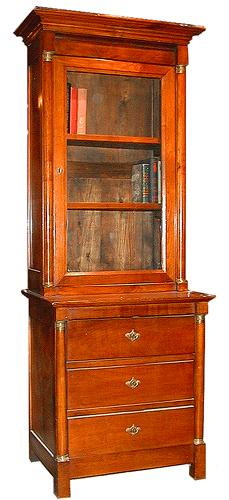 A 19th Century Cherry Wood Empire Combination Bookcase and Chest of Drawers No. 52
